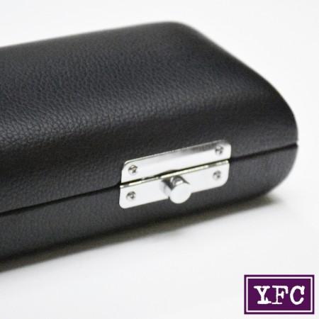 YFC Deri Kaplı Ahşap Flüt Kutusu